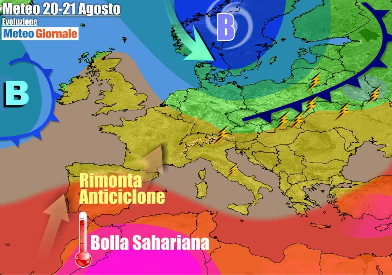 meteogiornale previsioni 7 giorni 16 - Meteo 7 giorni: CALDO di nuovo, ma CICLONE del Nord Europa attivissimo