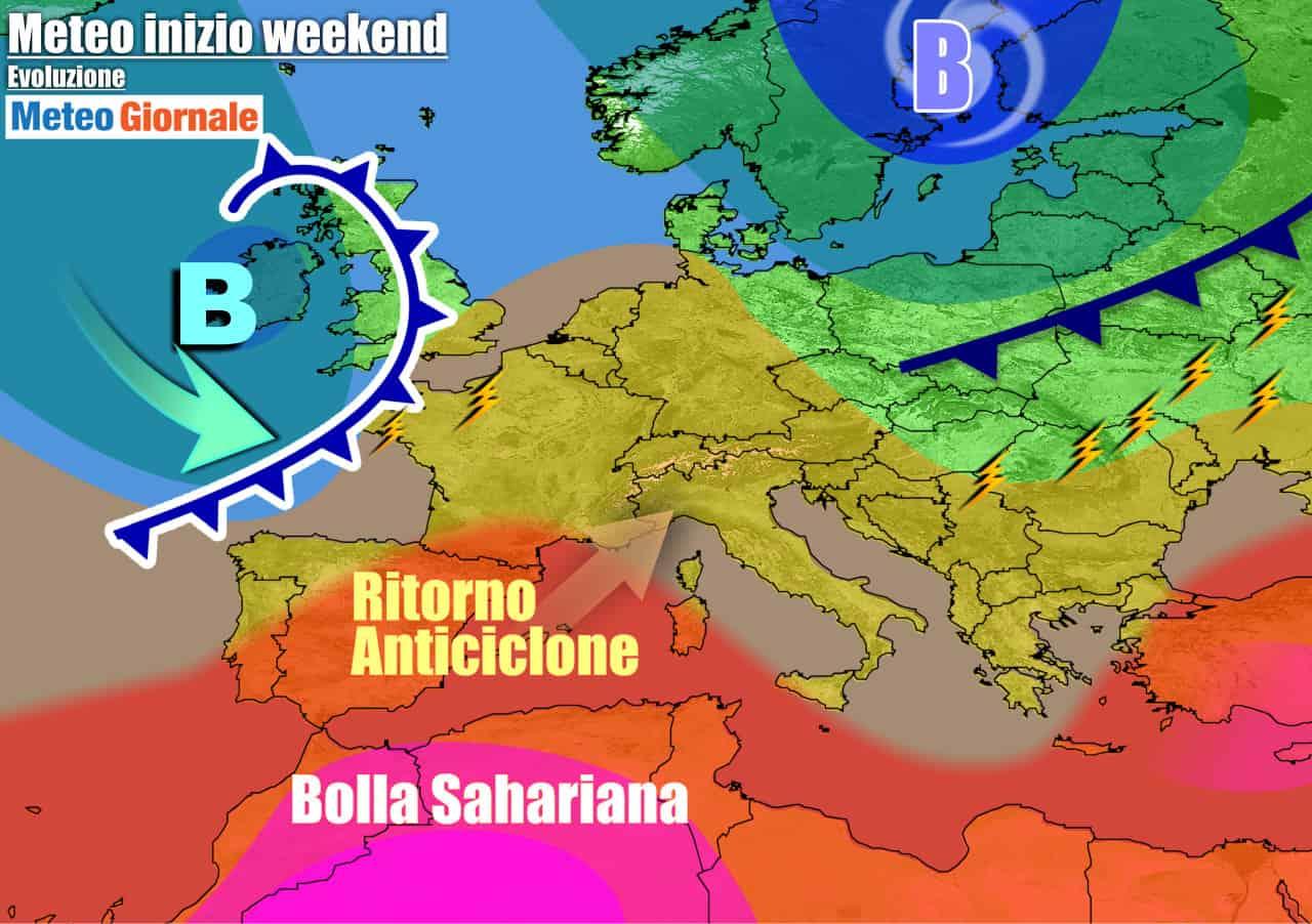 meteogiornale previsioni 7 giorni 17 - Meteo 7 giorni: rimonta l'ANTICICLONE AFRICANO, ma ATTENZIONE non durerà