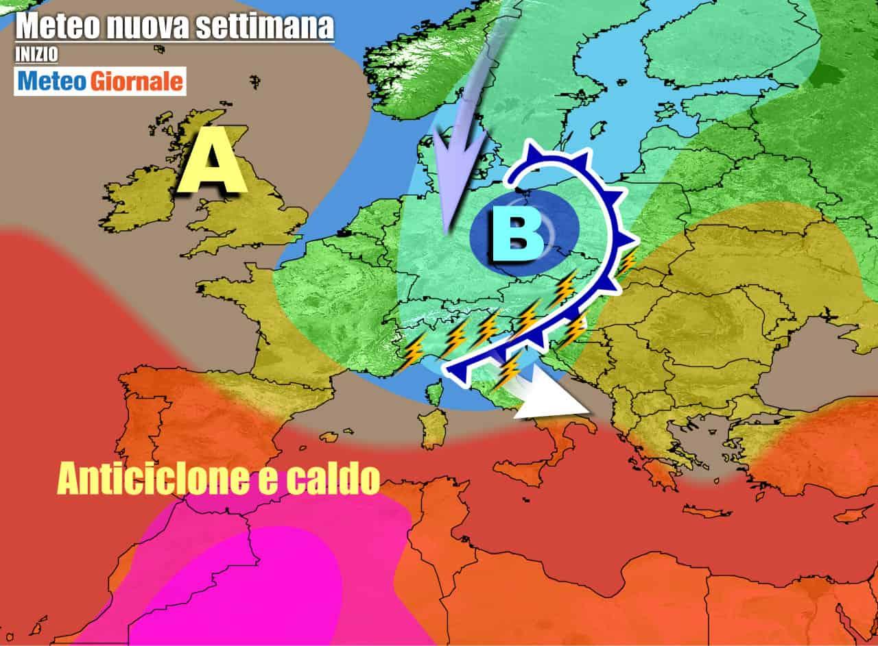 meteogiornale previsioni 7 giorni 19 - Meteo 7 giorni: TEMPORALI in arrivo, con nuovo CALO TERMICO