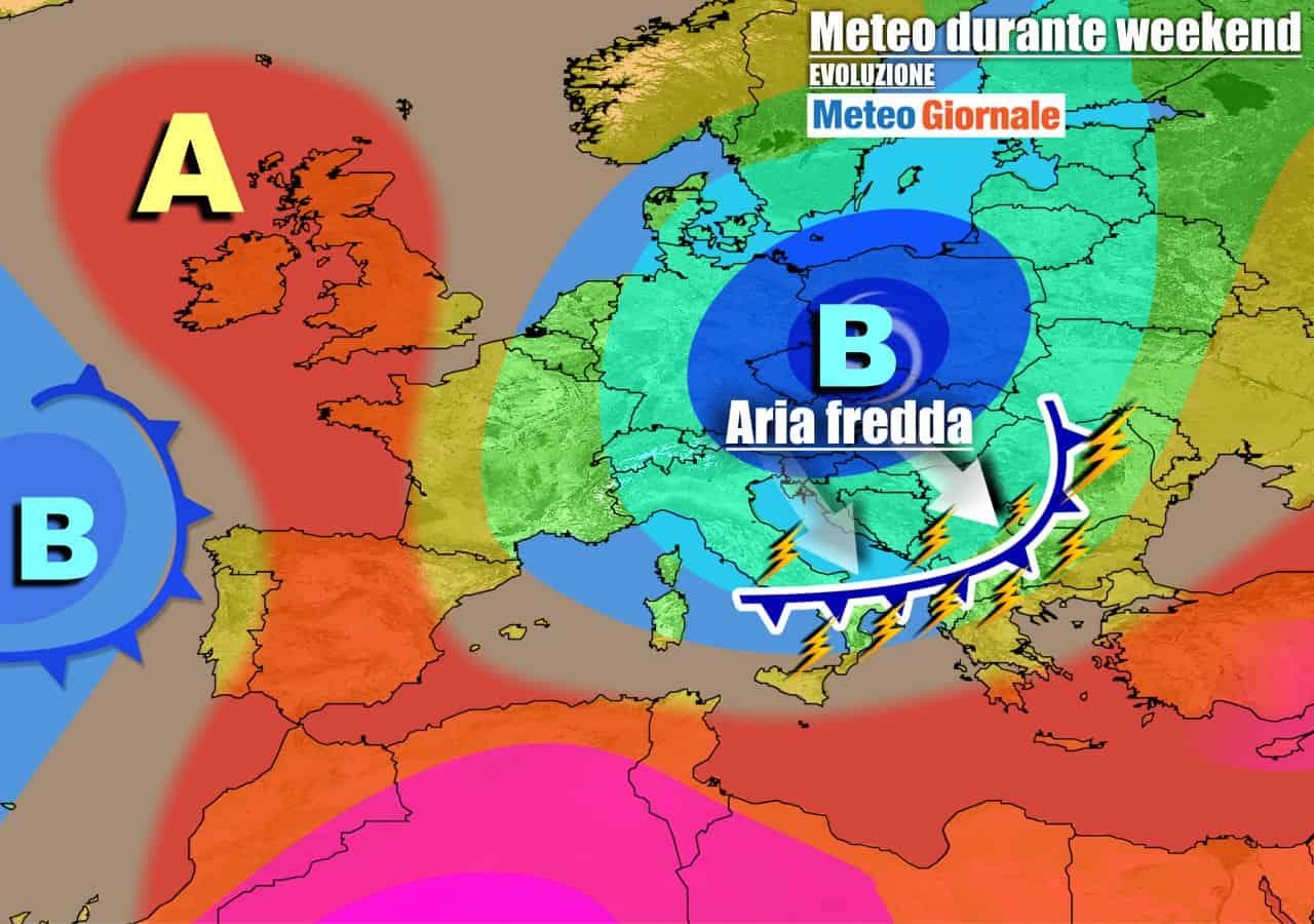 meteogiornale previsioni 7 giorni 24 - Meteo 7 giorni: CICLONE affonderà verso Italia. TEMPORALI e CROLLO TERMICO