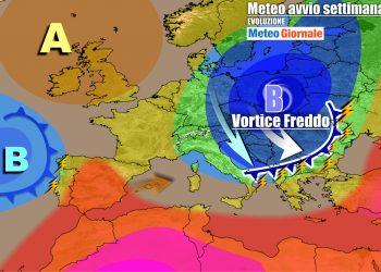 Graduale ritorno di condizioni anticicloniche sull'Italia dall'inizio della nuova settimana