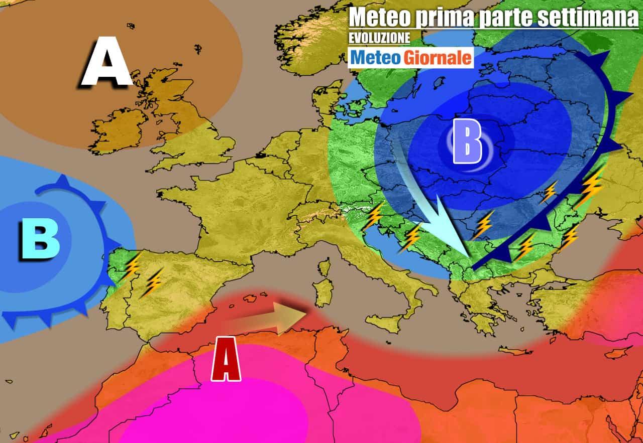 meteogiornale previsioni 7 giorni 26 - Meteo 7 giorni: CRISI di fine ESTATE, fresco e TEMPORALI. Fino a quando?