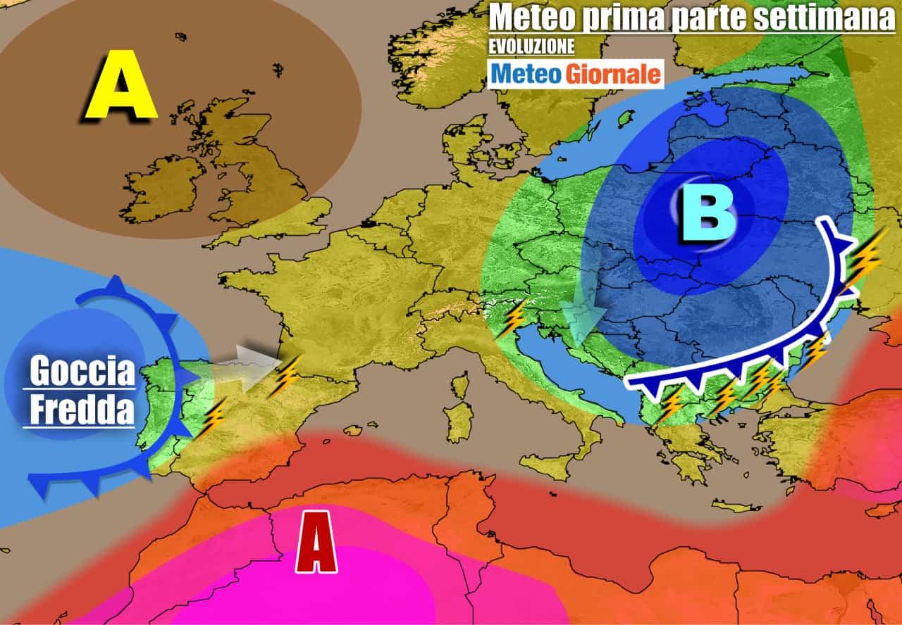 meteogiornale previsioni 7 giorni 27 - Meteo 7 giorni: prove d'AUTUNNO. In settimana TREGUA, non durerà