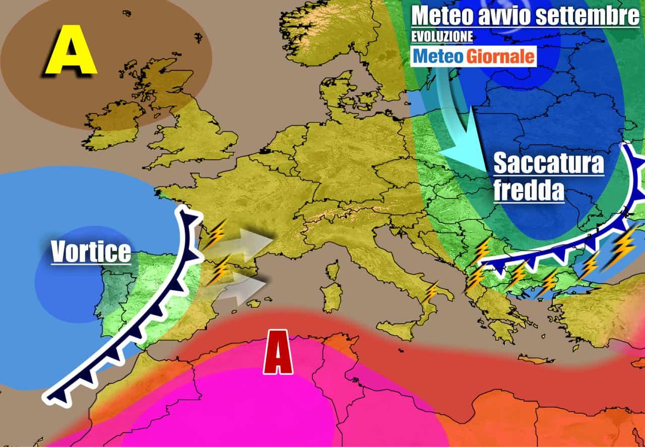 meteogiornale previsioni 7 giorni 28 - Meteo 7 giorni: dall'anticiclone al primo ASSALTO D'AUTUNNO di Settembre
