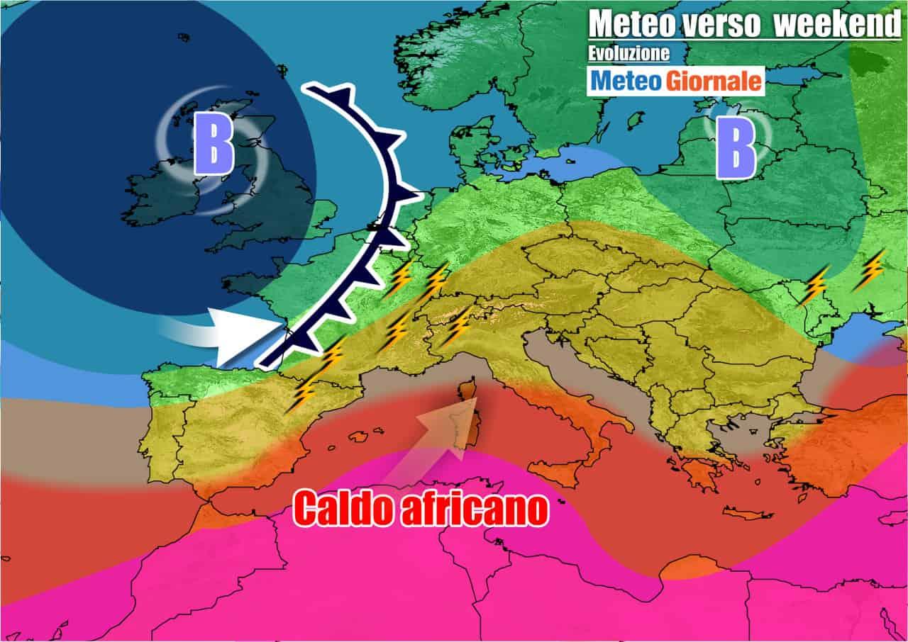 meteogiornale previsioni 7 giorni 3 - METEO 7 Giorni. Potente vampata dal SAHARA, CALDO verso livelli eccezionali