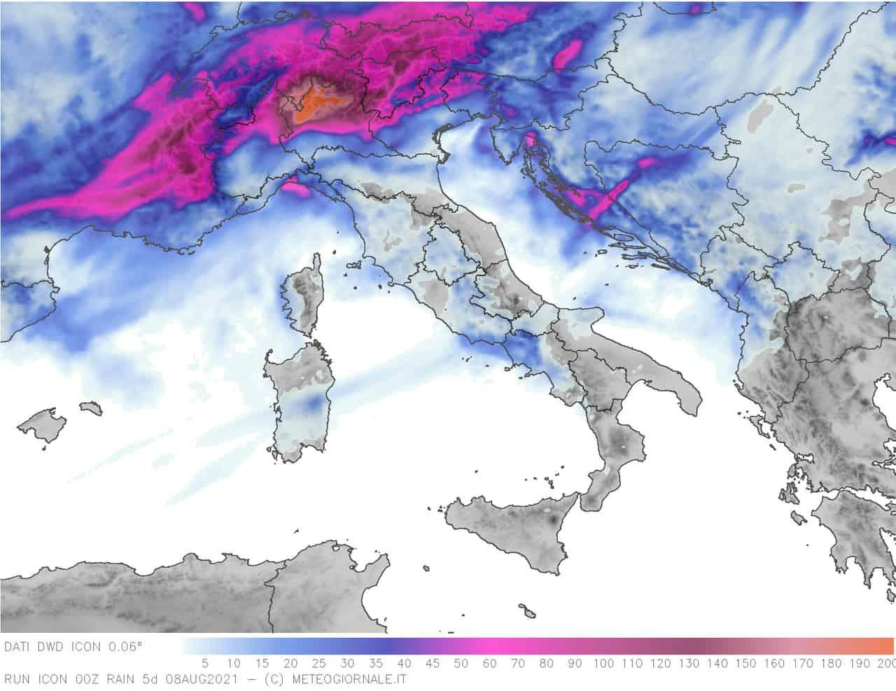 pcp og grey5d 120 - Meteo Italia: nuova raffica di temporali di forte intensità. Rischio grandine