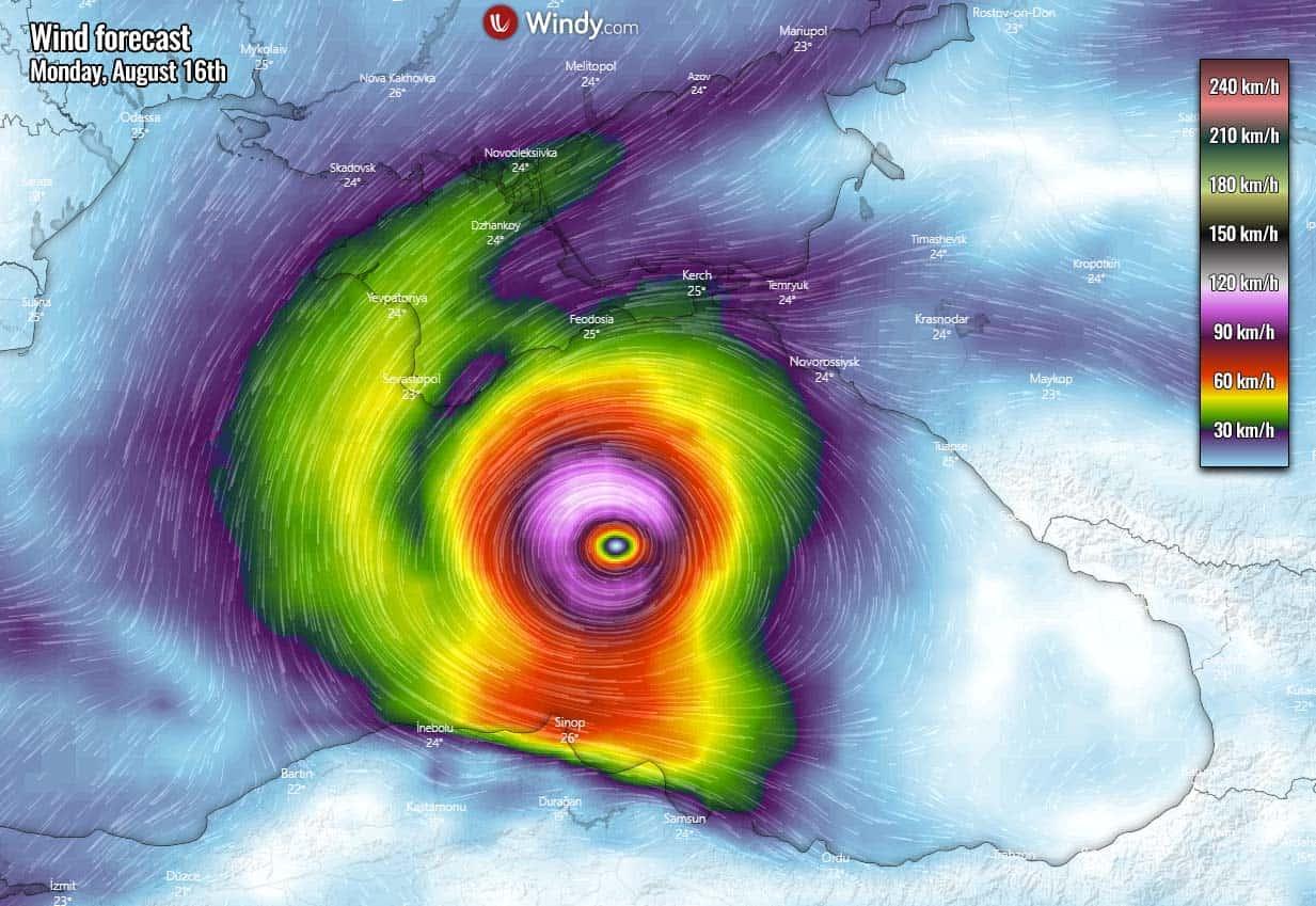 tropical like cyclone medicane alike black sea impact winds - Rischio CICLONI mediterranei: il meteo estremo dell'Autunno