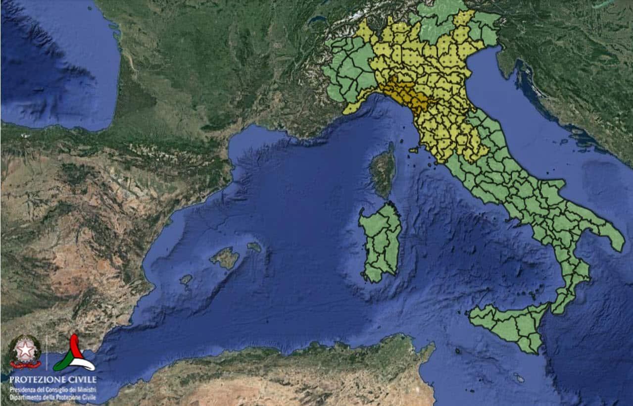 allerta meteo italia protezione civile - Allerta meteo Protezione Civile per l'Italia