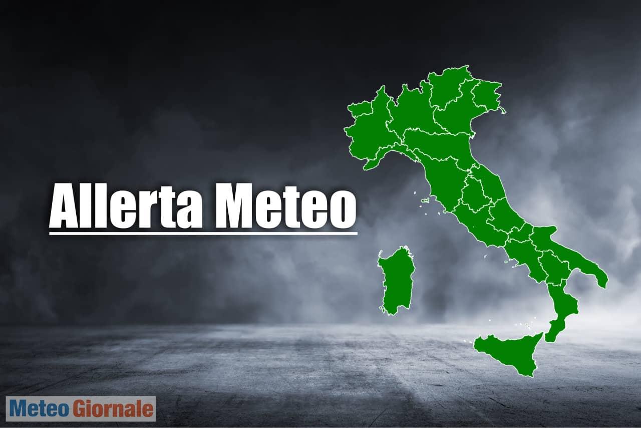 allerta meteo italia - Allerta meteo Protezione Civile per l'Italia