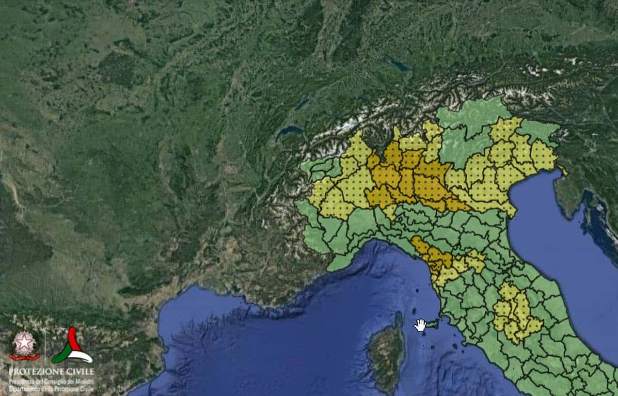allerta meteo per il 18 09 2021 protezione civile - Allerta meteo Protezione Civile per l'Italia per il 19 Settembre