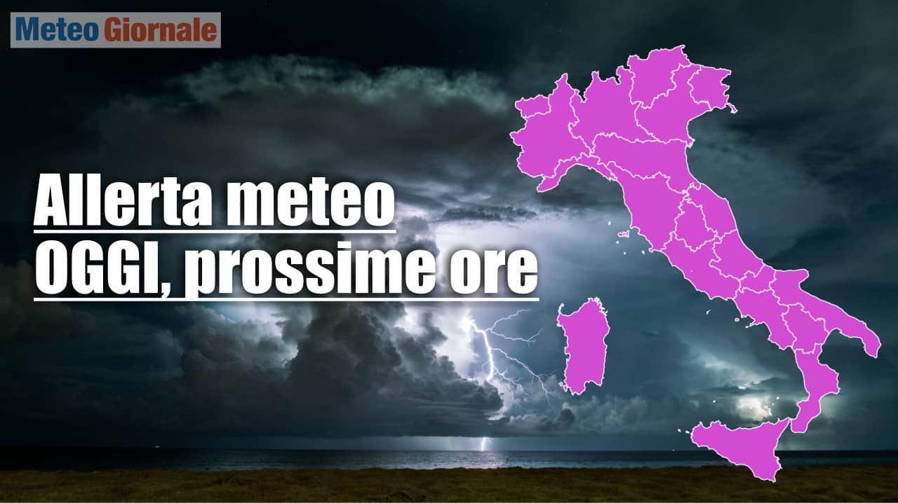allerta meteo per il 18 09 2021 - Allerta meteo Protezione Civile per l'Italia prossime ore