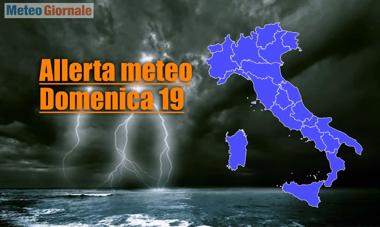 allerta meteo per il 19 09 2021 - Allerta meteo Protezione Civile per l'Italia per il 19 Settembre