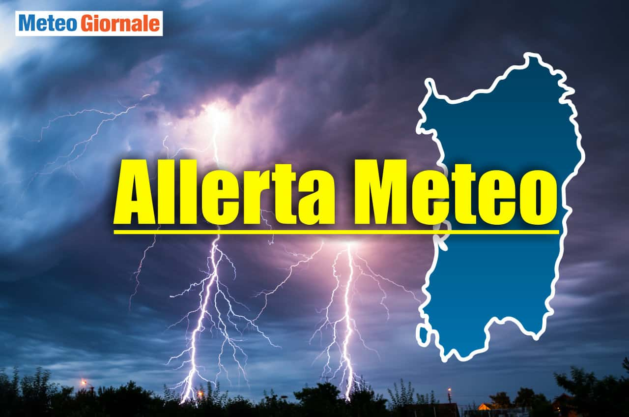 allerta meteo sardegna - Allerta meteo in Sardegna per condizioni avverse. Rischio nubifragi
