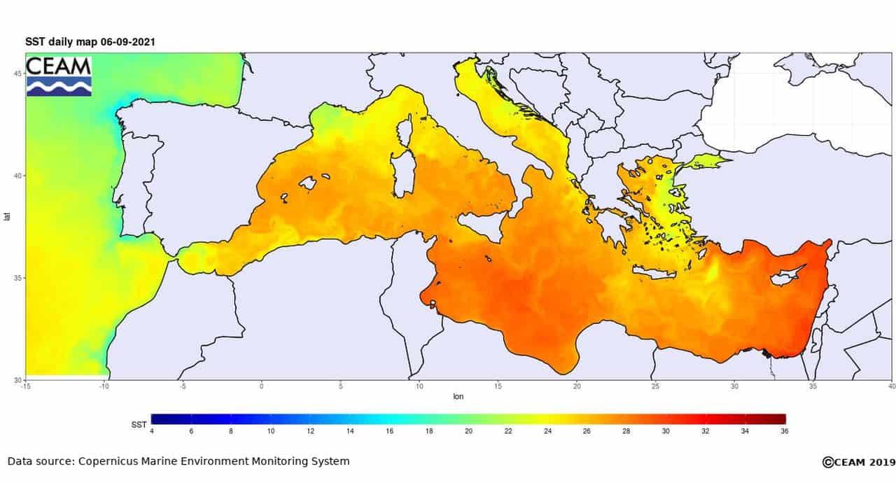 caldo mediterraneo - Rischio METEO ESPLOSIVO per le calde acque del Mar Mediterraneo