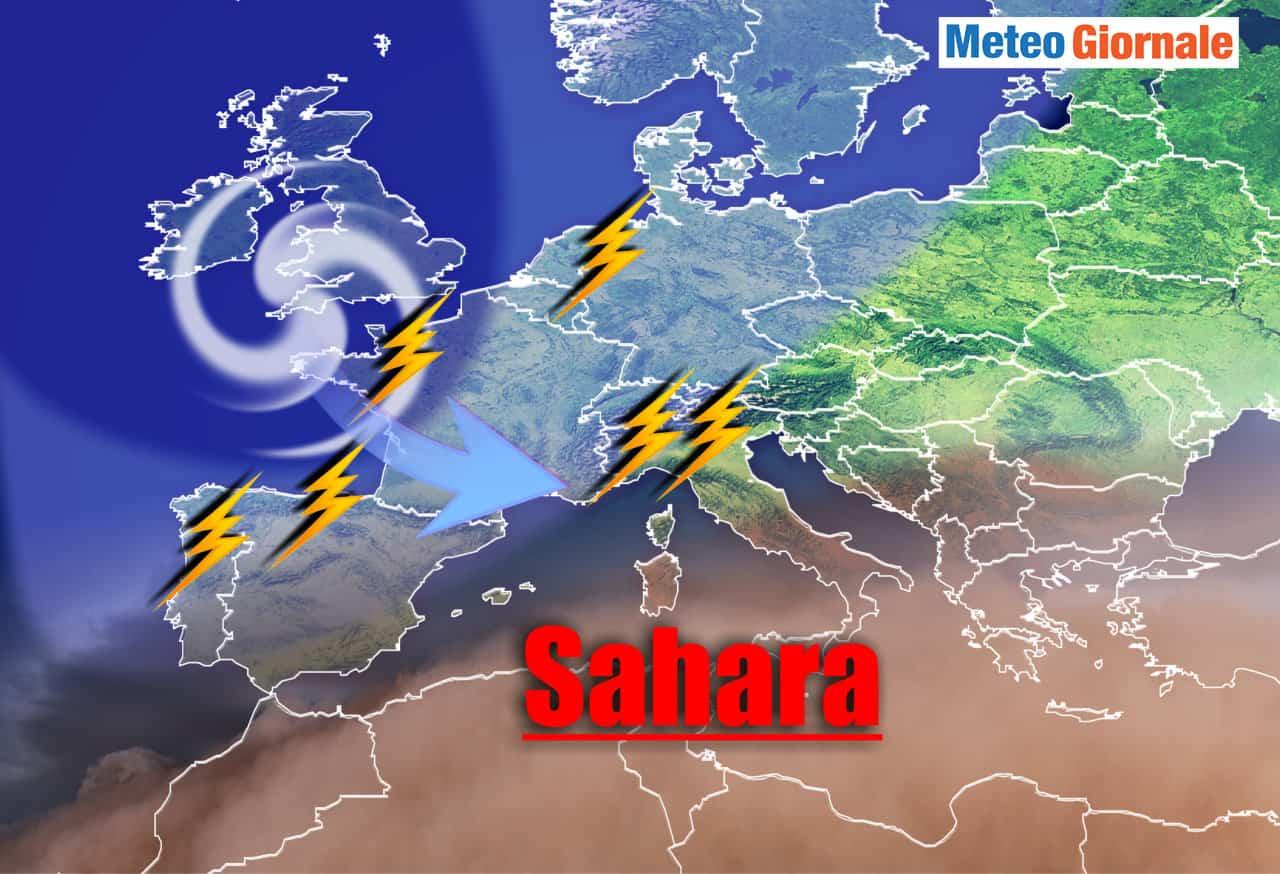 caldo sahara temporali nord - METEO: siamo all'APICE del CALDO, ma è imminente un cambiamento