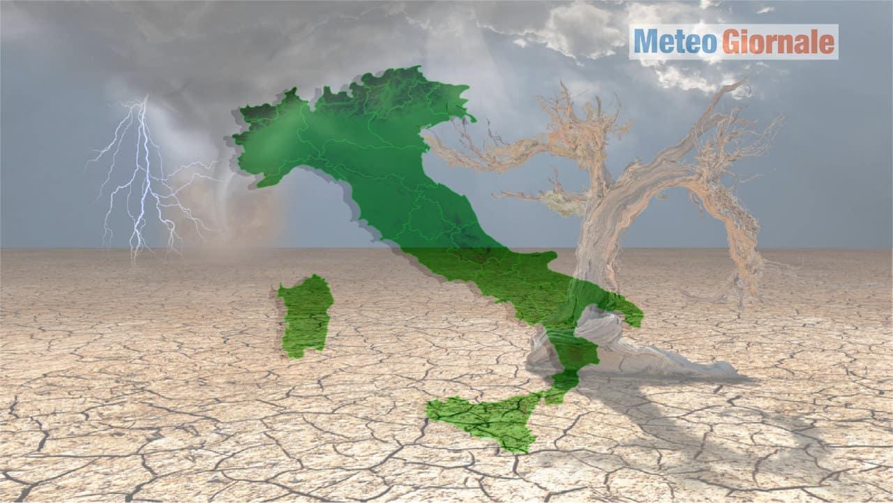 cambiamenti climatici italia - CLIMA e il METEO ESTREMIZZATI: Italia tra i Paesi più a rischio d'Europa, niente prevenzione