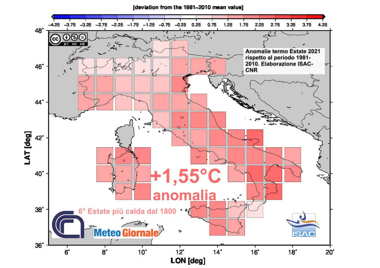 clima italia estate 2021 - Clima in Italia: ESTATE 2021 da grande siccità, fra le più calde di sempre
