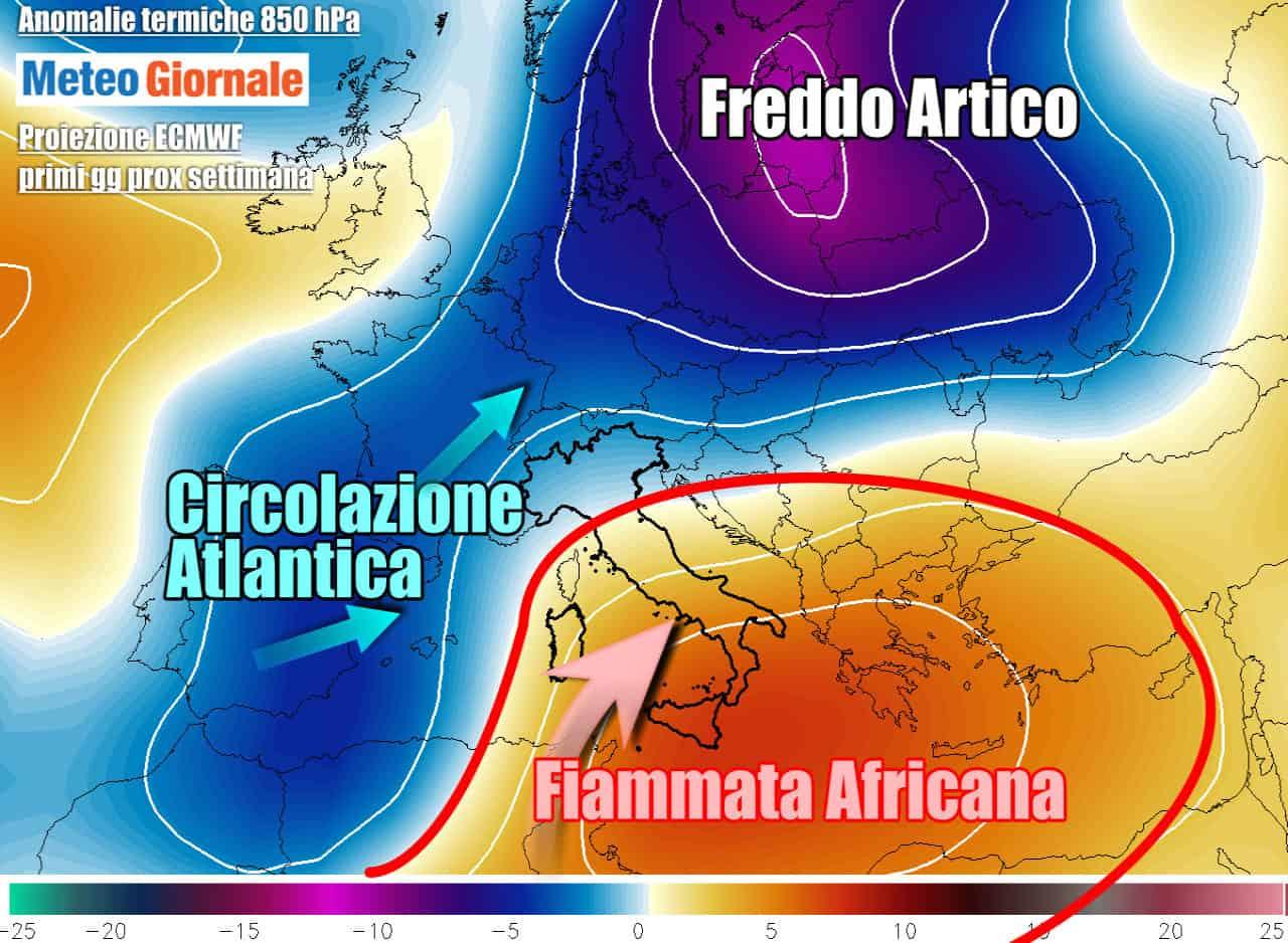 ecmwf termiche anomalie prossima settimana - Meteo, l'ESTATE ad oltre 35 gradi non vuol andar via. Nuove ondate africane