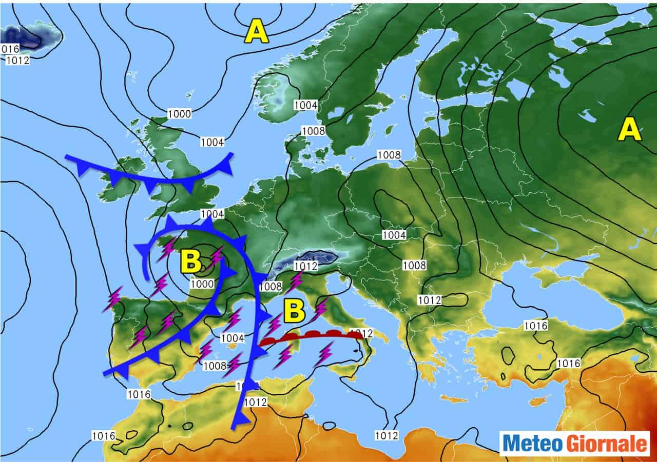 evoluzione meteo medio termine - Intrusione del meteo AUTUNNALE in Italia: conseguenze rilevanti