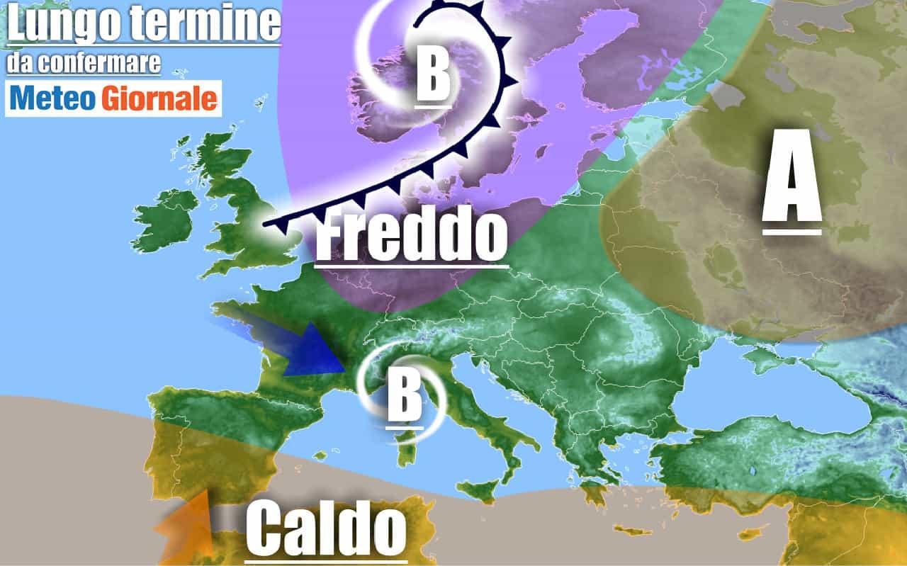 lungo termine 14 - METEO Italia al 2 Ottobre, severo freddo PEGGIORAMENTO