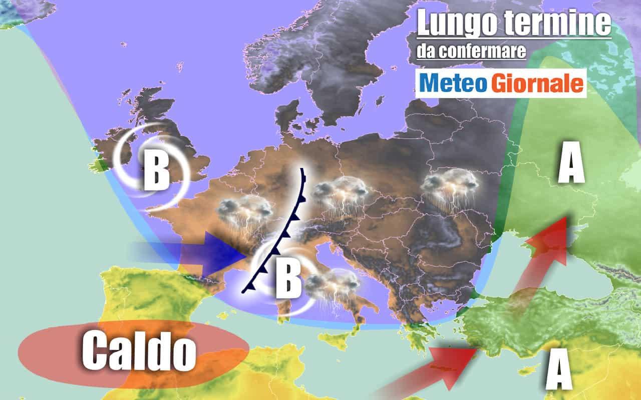 lungo termine 2 - METEO Italia al 18 settembre, severo MALTEMPO