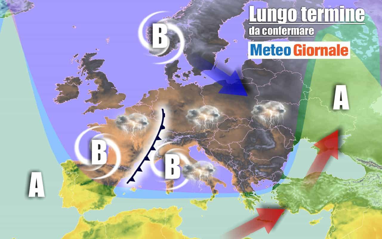 lungo termine 4 - AUTUNNO, meteo Italia sino al 21 Settembre, incombente