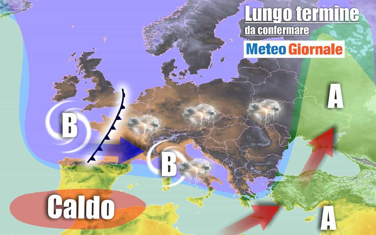 lungo termine domenica - Dal Caldo Tropicali ai Nubifragi il meteo sino al 20 Settembre