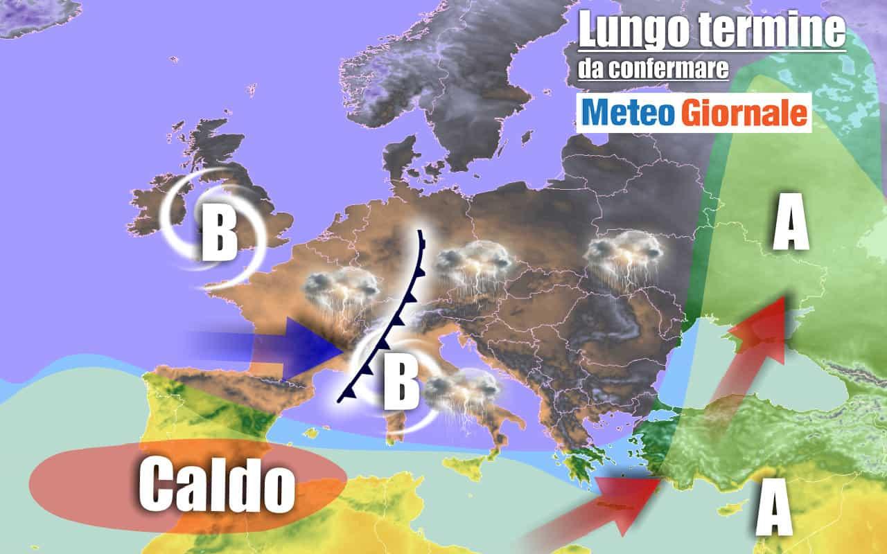 lungo termine - METEO Italia al 16 settembre: insidiosi VORTICI ciclonici