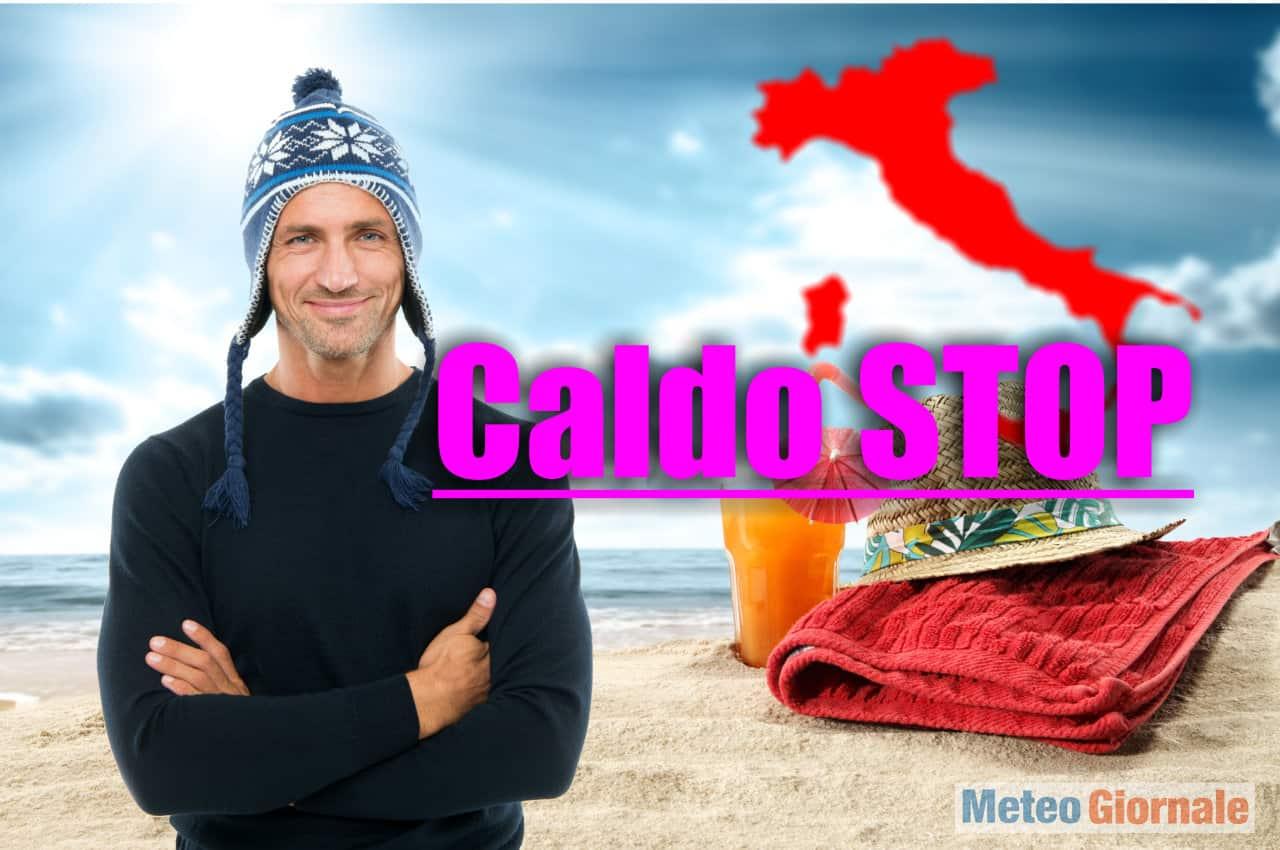 meteo caldo tropicale stop - Meteo dal Caldo Tropicale Stop dopo Onda di Calore in arrivo