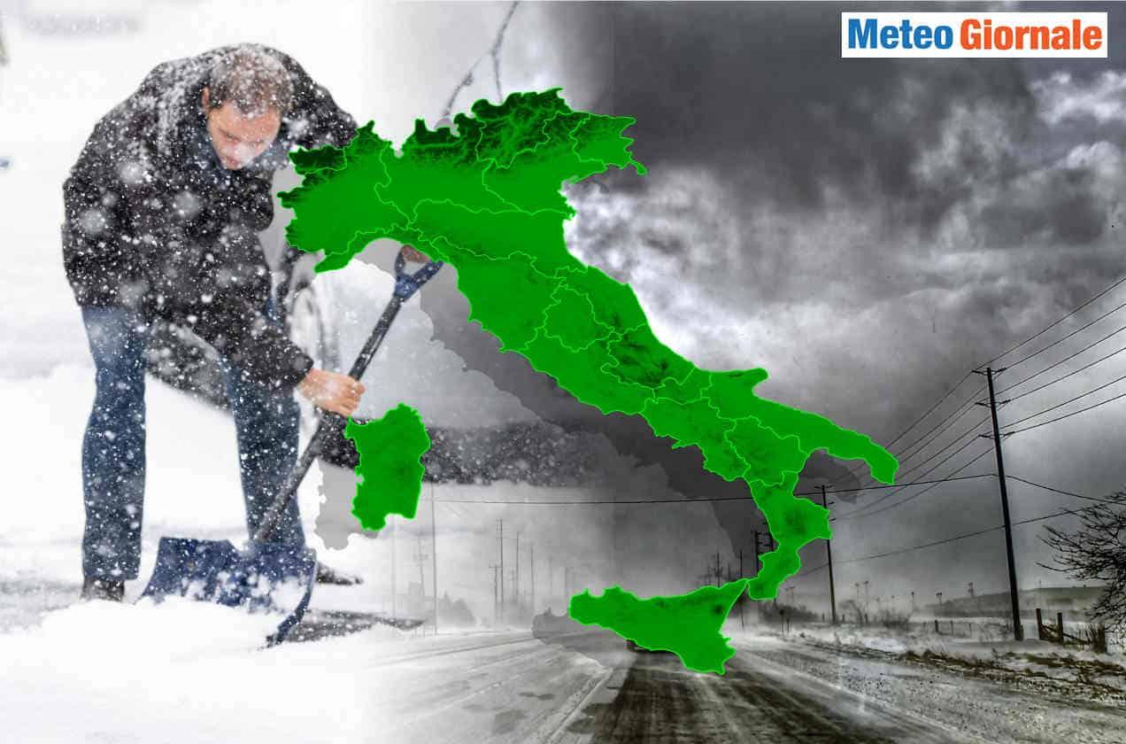 meteo che diventera invernale - Italia, varie aree con NEVICATE estreme nei prossimi INVERNI del futuro