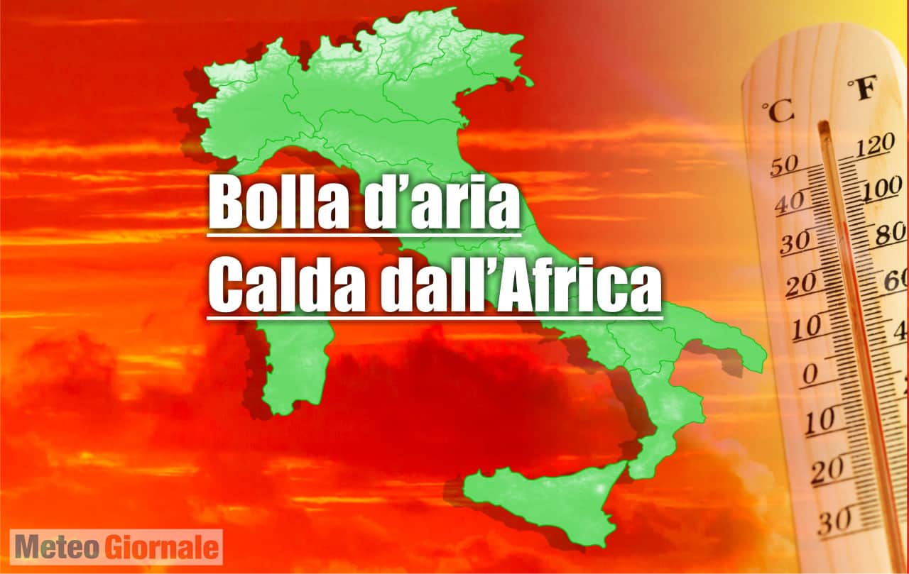 meteo con bolla aria calda africana - Ondata di Caldo in Italia, meteo anche oltre i 34-35 gradi. Segue un'altra peggiore