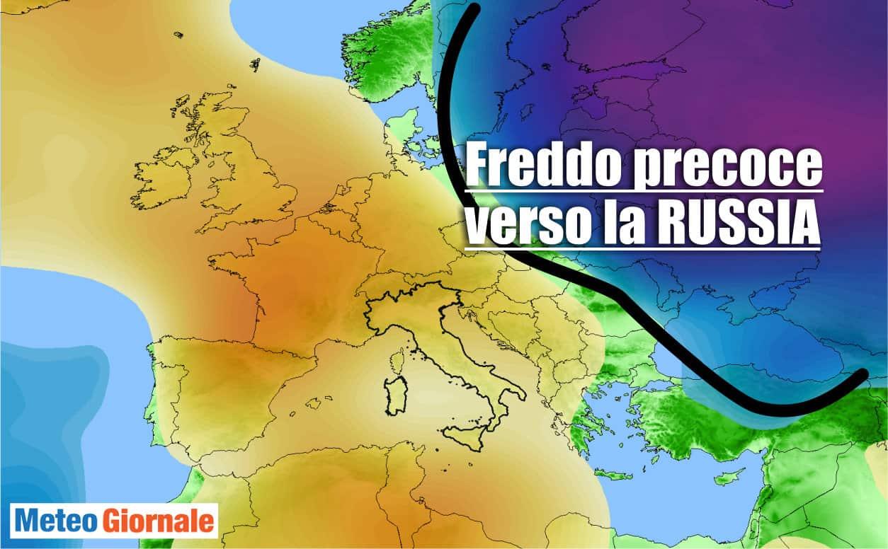 meteo con freddo precoce in russia - Meteo con freddo precoce in Russia. Trapasso stagionale cruento