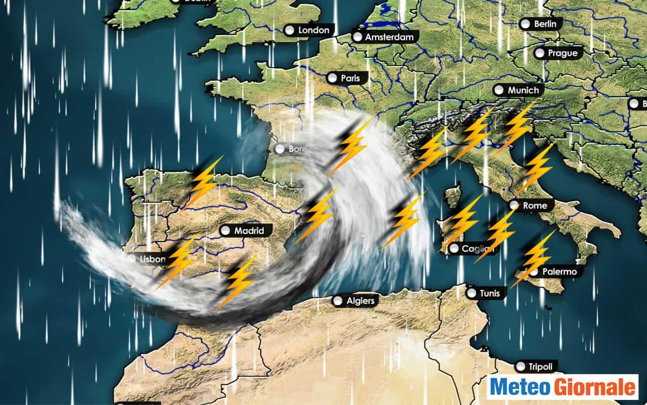 meteo con piogge intense - Subito i Tropical Storm nel meteo d'inizio Autunno