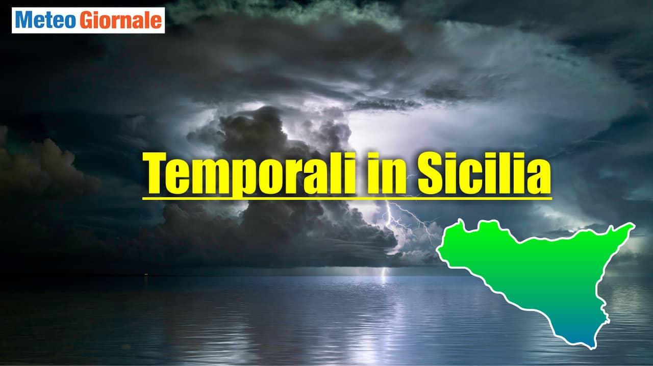 meteo con rischio temporali in sicilia - Meteo Sicilia, ulteriori temporali e nubifragi. Nuovo peggioramento