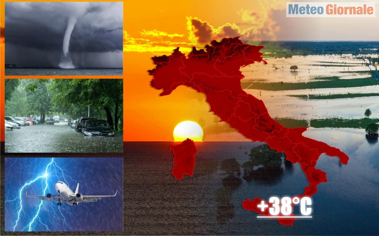 meteo estremo 18 e 19 settembre 2 - METEO con Raffica di Tornado nel Nord Italia. Sicilia a 38°C. Mai visto un Settembre così
