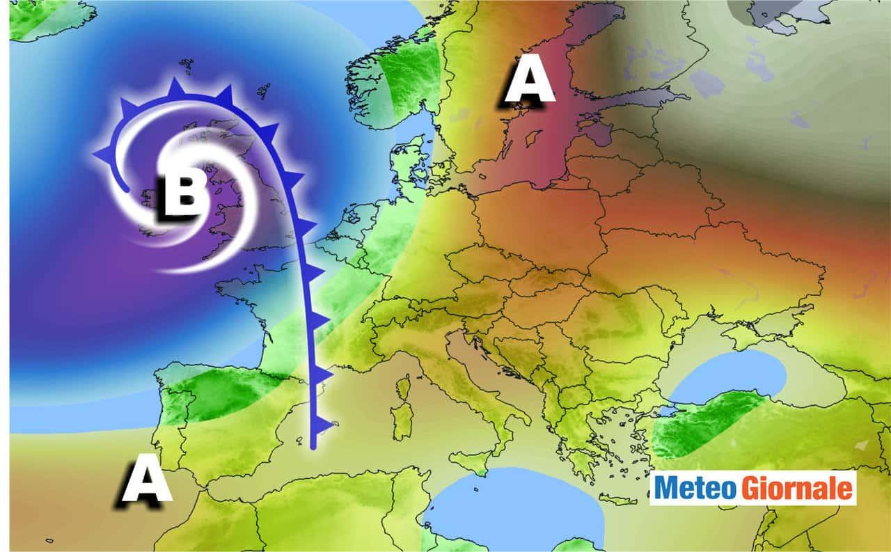 meteo europa - Profondo CICLONE sconvolgerà il meteo di inizio ottobre