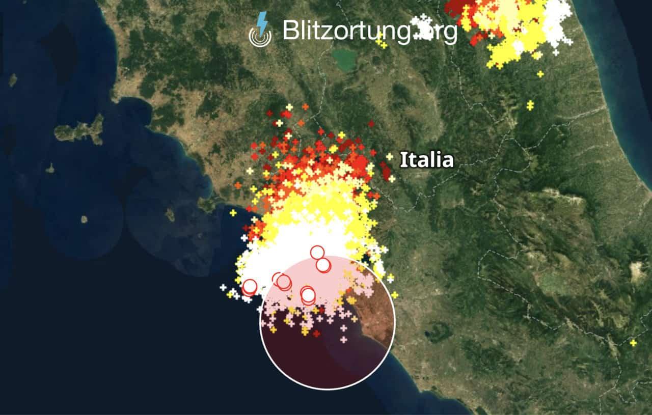 meteo lazio temporali - Diretta Meteo Lazio e Roma, temporale con tempesta elettrica