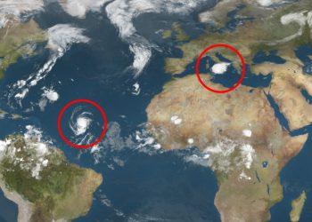 meteo satellitare con tropical storm 350x250 - DIRETTA METEO: Tropical Storm tra Sicilia e Calabria