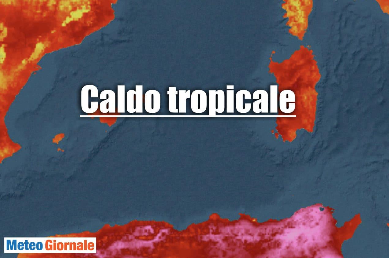 meteo tropicale sardegna - Esagerata notte dal meteo tropicale in Sardegna. Conseguenze nel medio termine