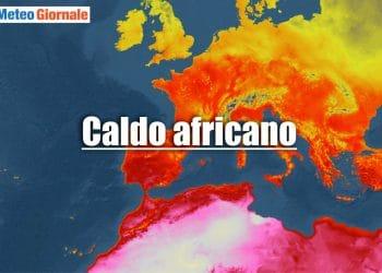 meteo verso caldo africano