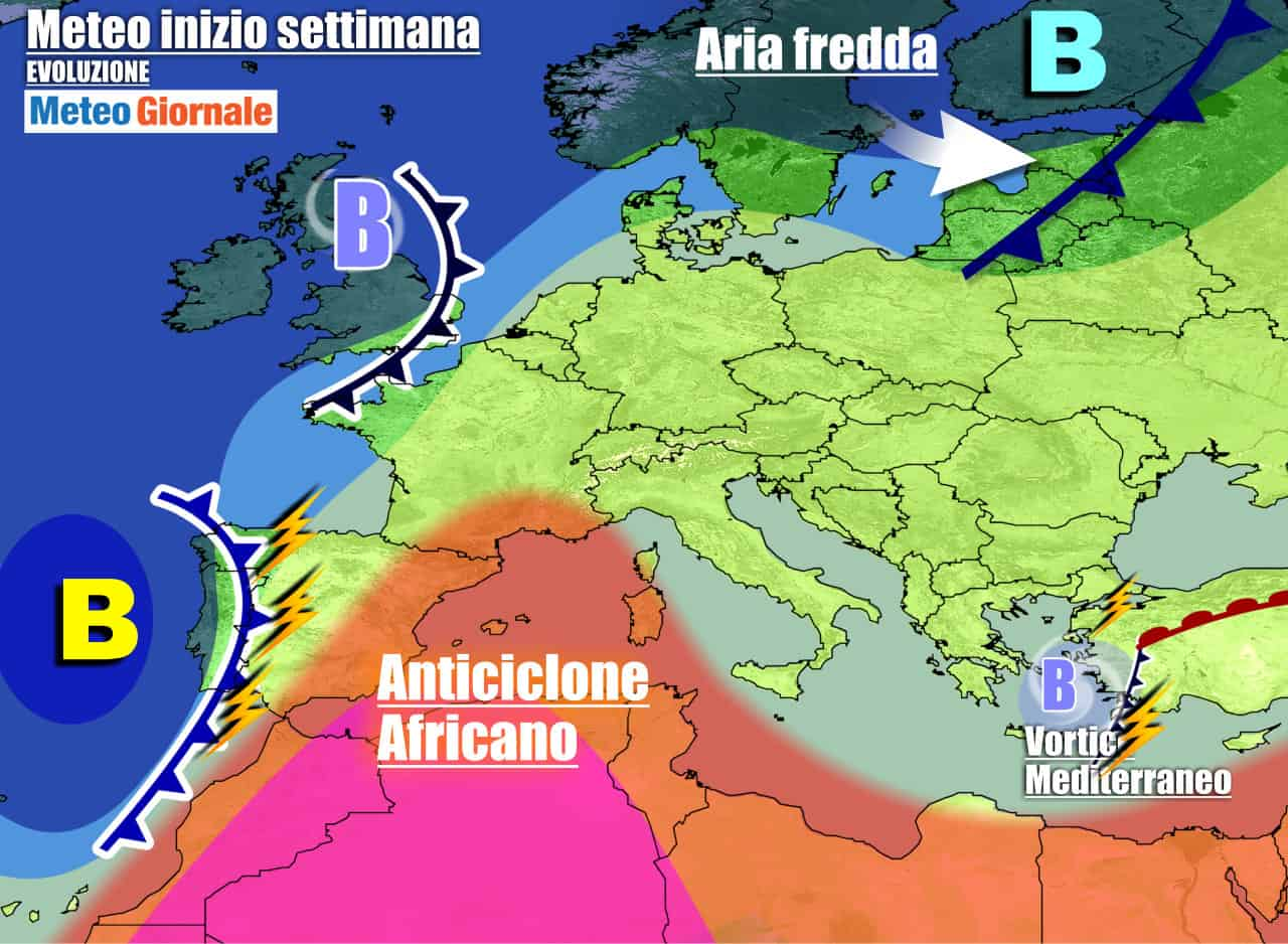 meteogiornale previsioni 7 giorni 11 - Meteo 7 giorni: verso CALDO FUORI STAGIONE, per l'anticiclone africano