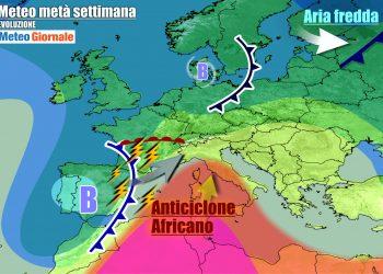 Fase meteo tardo estiva nel corso della settimana