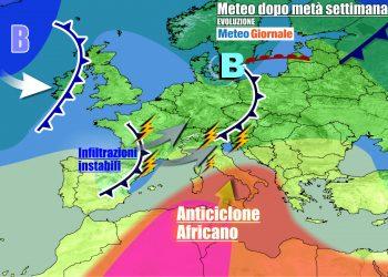 Italia divisa fra temporali e anticiclone africano