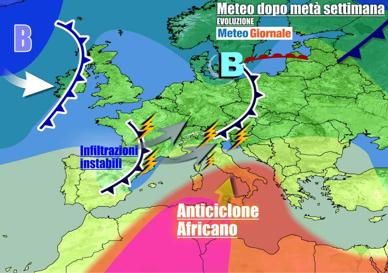 meteogiornale previsioni 7 giorni 14 - Meteo 7 giorni: exploit del GRANDE CALDO ANOMALO per l'anticiclone africano