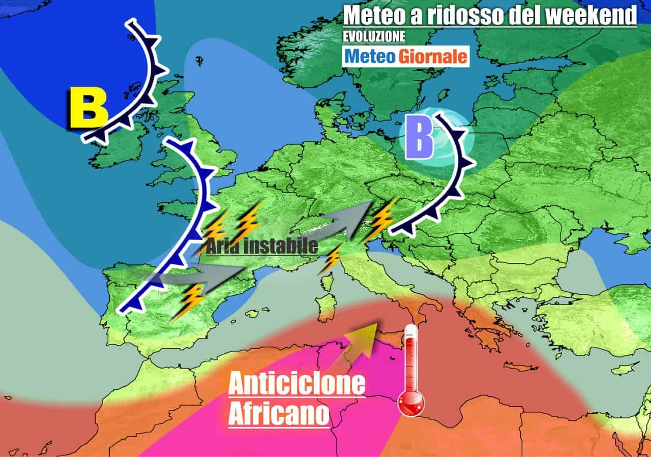 meteogiornale previsioni 7 giorni 15 - Meteo 7 giorni: FORTI TEMPORALI in arrivo, ma il caldo africano non molla