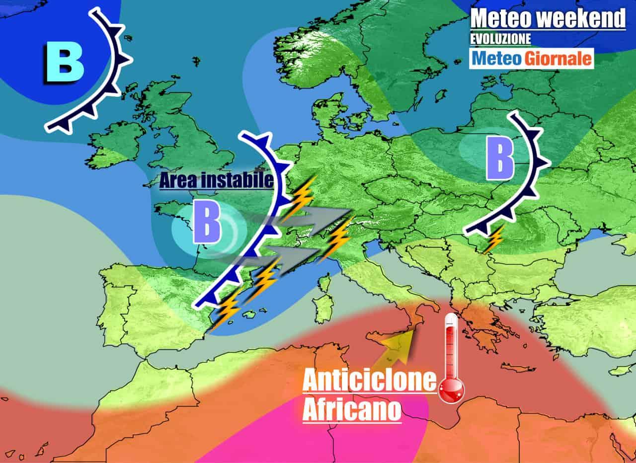 meteogiornale previsioni 7 giorni 16 - Meteo 7 giorni: Italia spaccata tra TEMPORALI e caldo da PIENA ESTATE