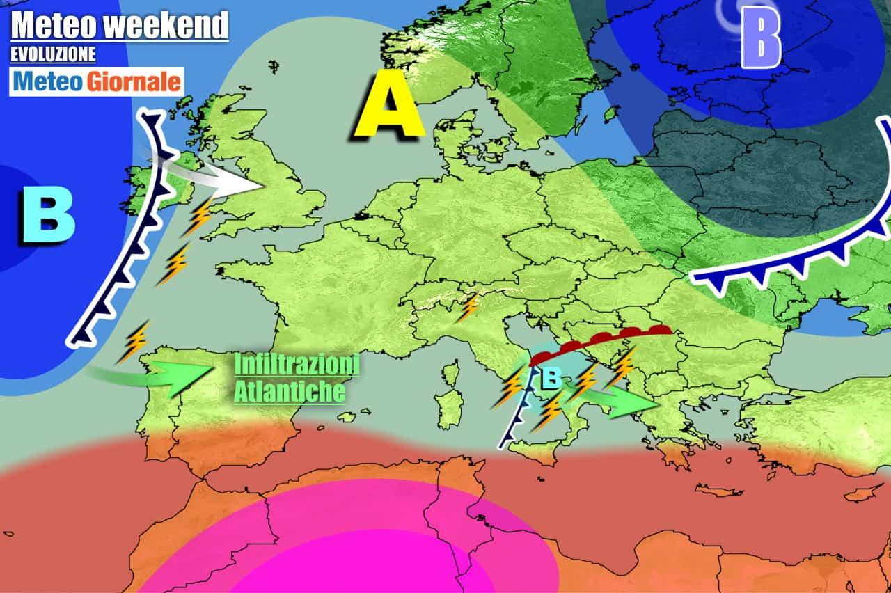 meteogiornale previsioni 7 giorni 2 - Meteo 7 giorni: confermato peggioramento, sfuriata TEMPORALI nel WEEKEND