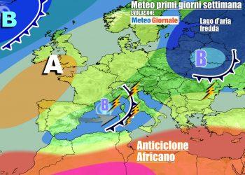 Italia scoperta la prossima settimana, vulnerabile ai temporali