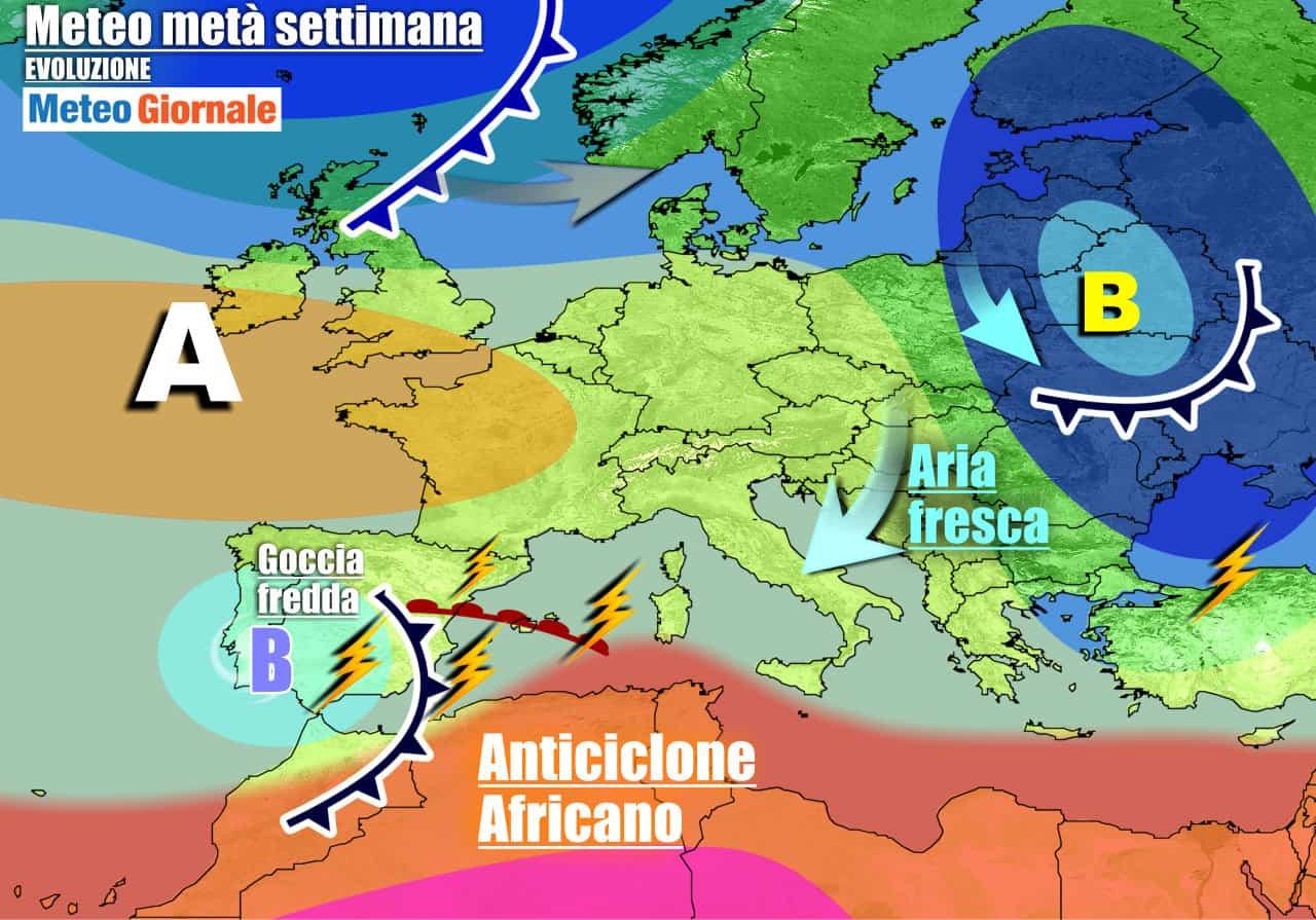 meteogiornale previsioni 7 giorni 21 - Meteo 7 giorni: nuove INSIDIE, ma arriva ANTICICLONE. Autunno in stand-by
