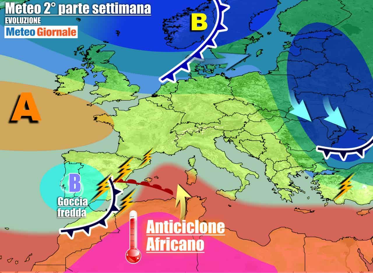 meteogiornale previsioni 7 giorni 22 - Meteo 7 giorni: ANTICICLONE in rinforzo, con colpo di coda dell'ESTATE